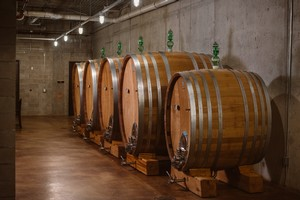 Mari vineyards Barrels in Caves